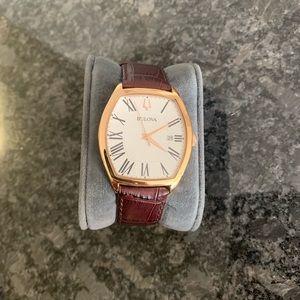 Bulova™ Men's Gold & Brown Wristwatch